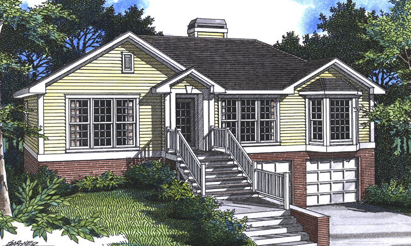Sundale Split Level Home Plan 052d 0008 House Plans And More