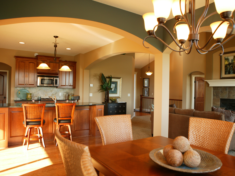 house plan vaulted great room
