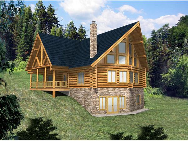 Hickory Creek A Frame Log Home Plan 088d 0033 House