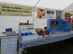 A Western Maine Beekeepers booth display at the fair.