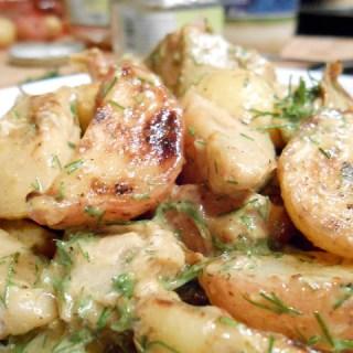 Mustardy Artichoke Potato Salad
