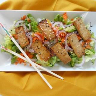 Sesame Salad w/ Teriyaki Baked Tofu