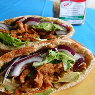 Spicy BBQ Avocado Pita Sandwich