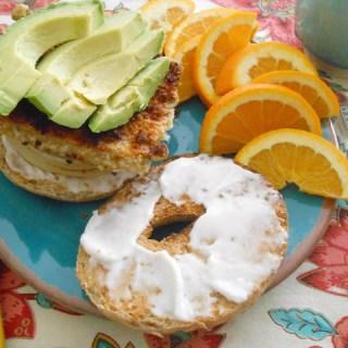 Crispy Tempeh Breakfast Bagelwich