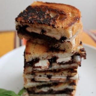 Brie, Basil & Dark Chocolate Panini