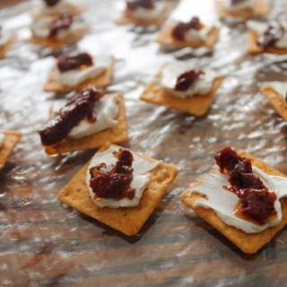 Sun Dried Tomato + Cream Cheese Crackers