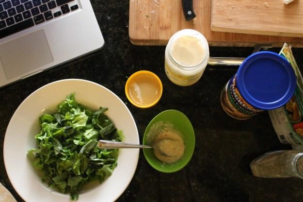 breaded artichoke salad