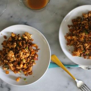 Chorizo Quinoa Scramble