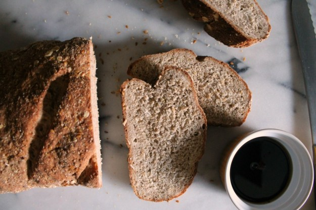 hearty oat + flax bread