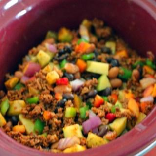 Vegan Slow Cooker Soy Chorizo Chilli