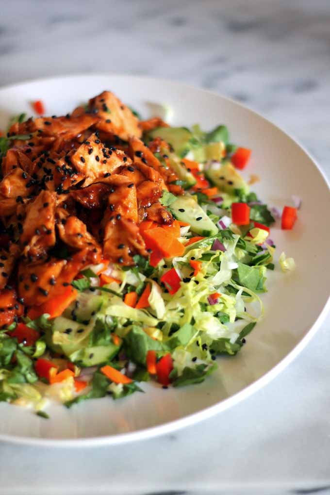 hoisin glazed salmon salad