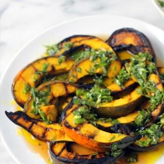 Grilled Acorn Squash w/ Herbed Vinaigrette