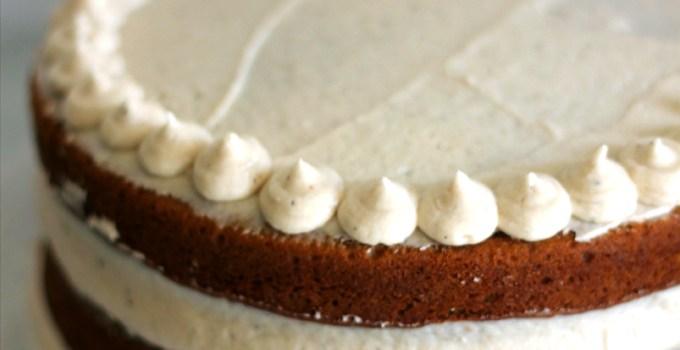 Pumpkin Spice Cake w/ Salted Caramel Kahlua Buttercream