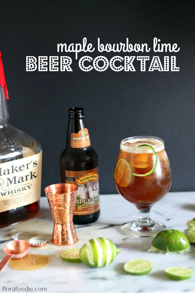 maple bouron lime beer cocktail