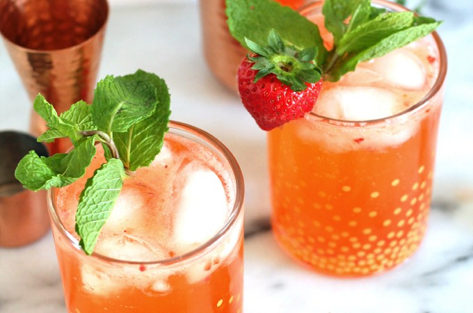 strawberry pear fizz