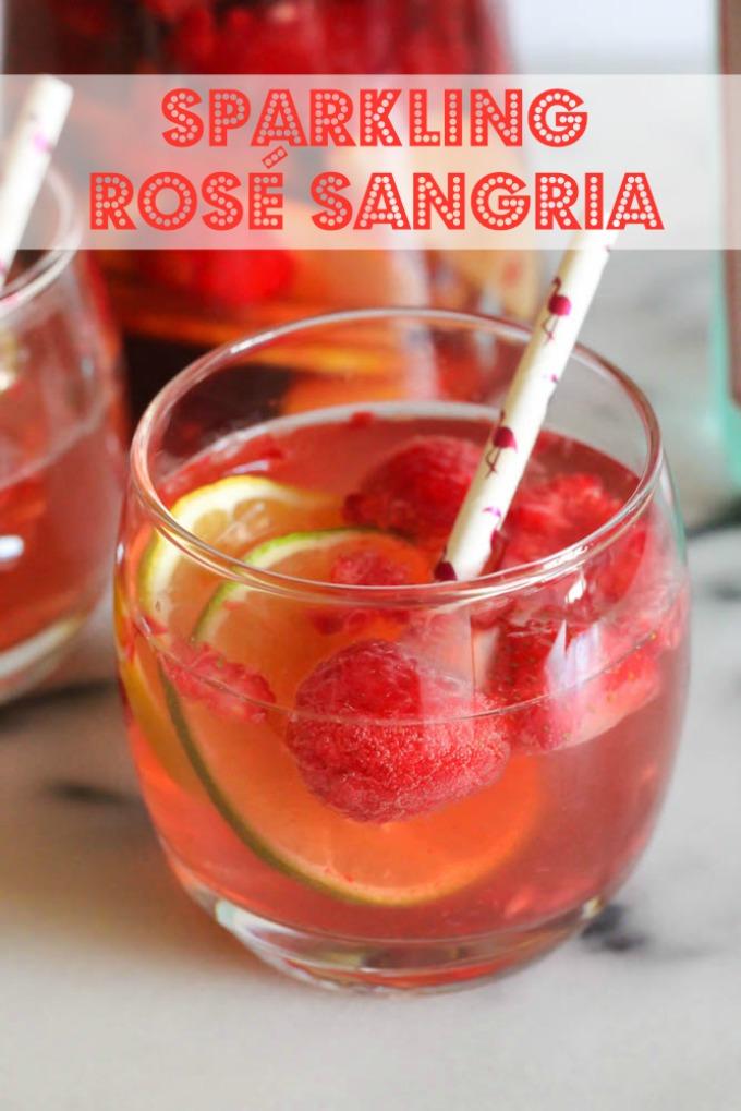 sparkling rose sangria