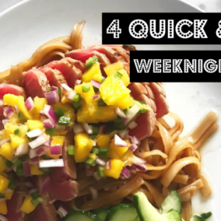 4 Quick & Easy Weeknight Meals