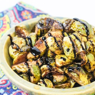 Balsamic + Maple Marinated Brussels Sprouts