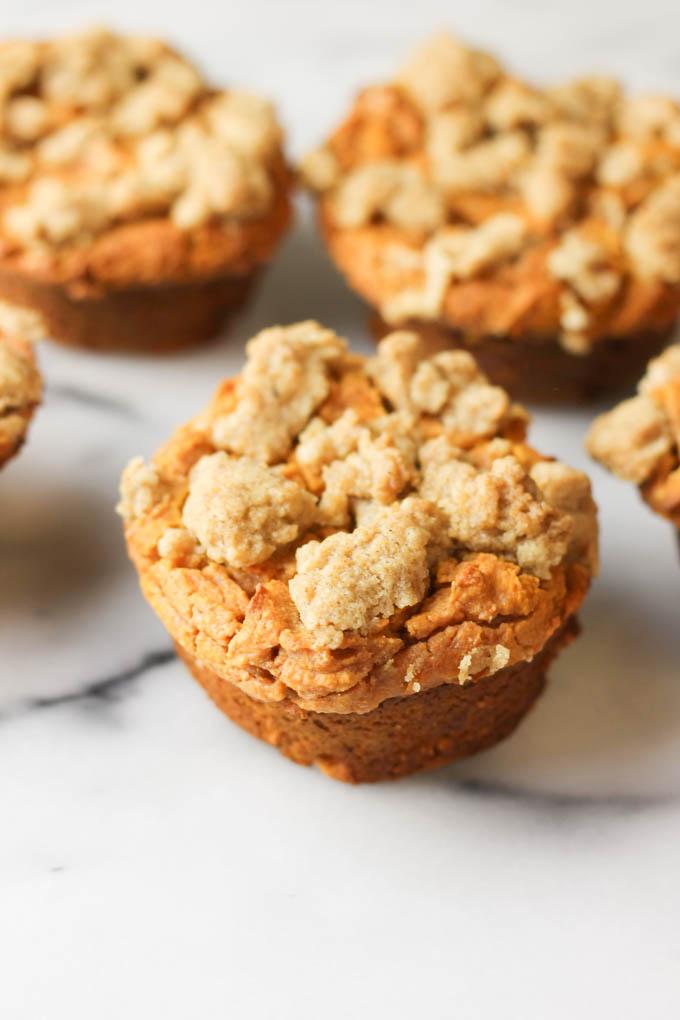 Streusel Pumpkin Protein Muffins