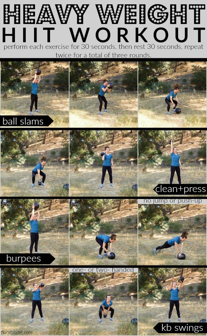 heavy weight slam ball hiit workout