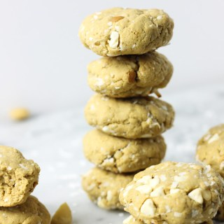 Coconut White Chocolate Macadamia Nut Protein Cookies