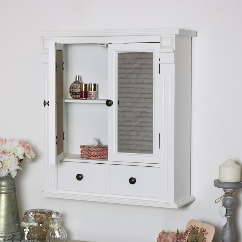 Bathroom Mirror Zoom White Mirrored Bathroom Wall Cabinet Flora Furniture