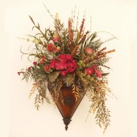 Red Wildflower Floral Wall Sconce SC101 : Floral Home ...