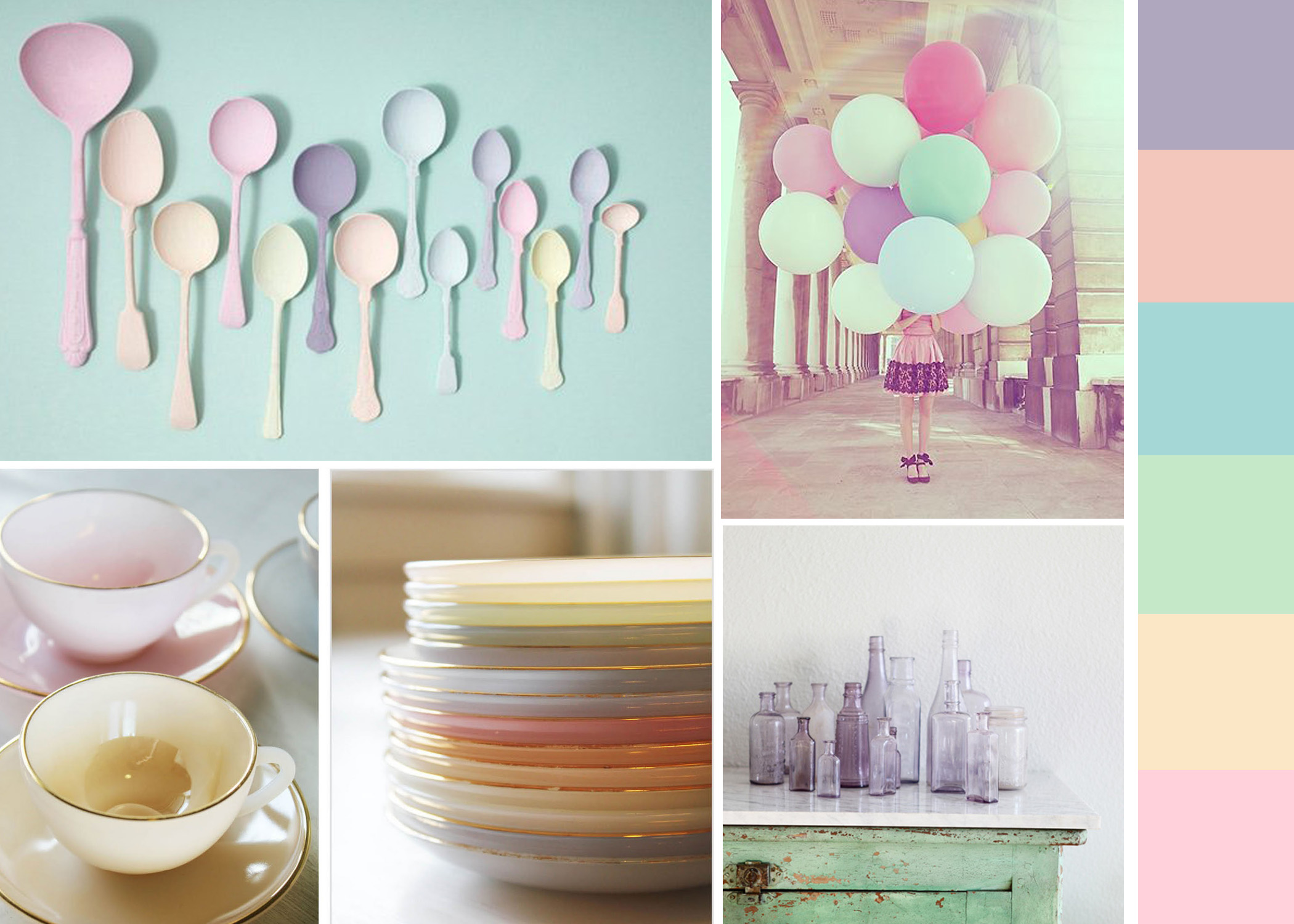 Pastel Pink Kitchen Accessories Interior Design