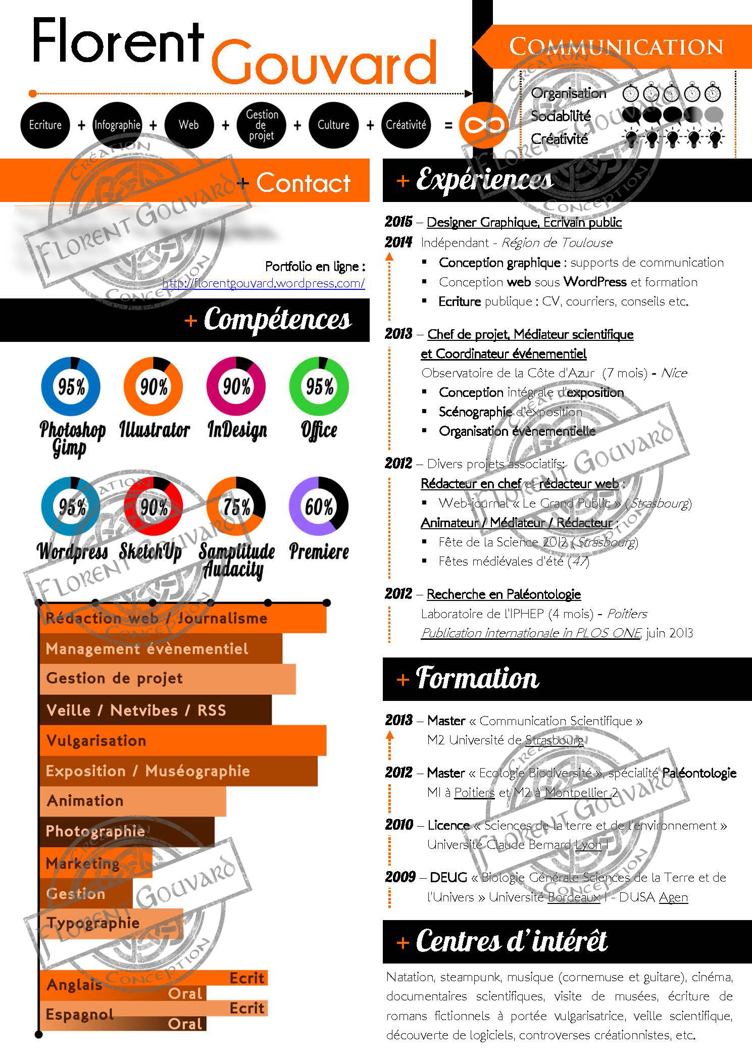 cv domaines de competences marketing