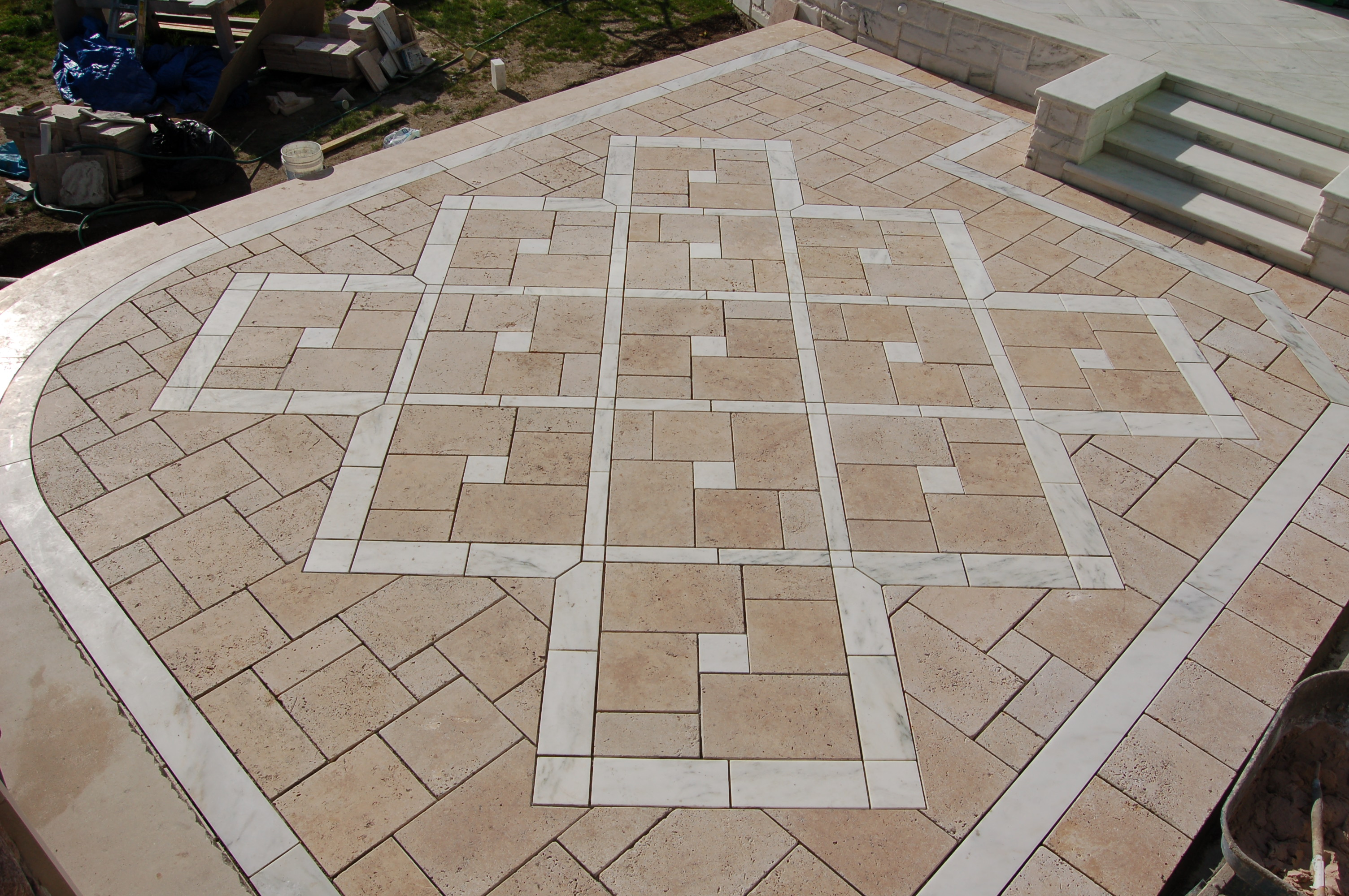 Floor Marbles Designs Travertine And Vermont Danby Marble Floor Design Masonry