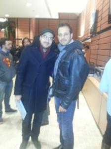 Florent et Kyan Khojandi le créateur de la série Bref.
