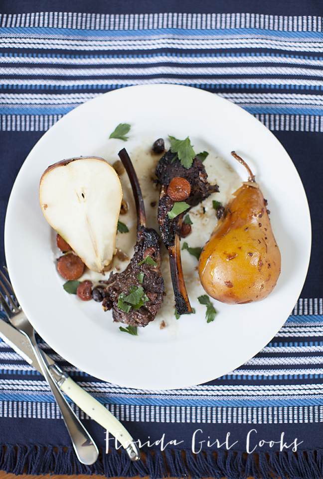 ROASTED LAMB WITH PEARS AND PISTACHIOS | Florida Girl Cooks