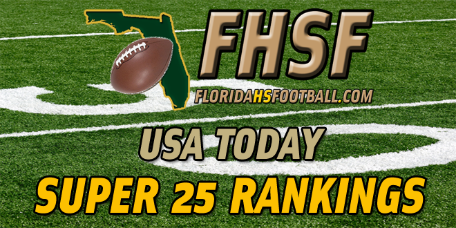 USA Today Super 25 Rankings – Week 1