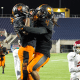 Booker T. Washington celebrates during the Class 4A State Final on Saturday December 5, 2015 (Photo: Ruben Andrews)