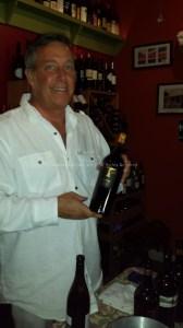 Chuck, pouring T-Vine at Vino's.