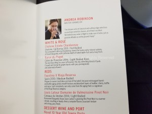 Delta One: A real wine list.