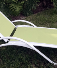 Garden Green Sling Chaise Lounge | Florida Patio: Outdoor ...