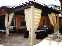 Traditional Pergola with Sunbrella curtains | Florida Pergola