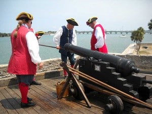 Firing the cannons at St. Augustine fort