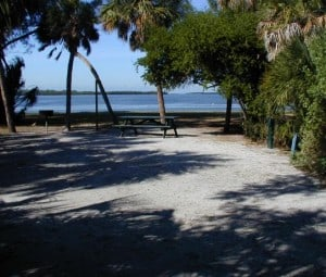 Campsite at Fort Desoto