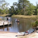 Boat launch at Florida's Ochlockonee River State Park