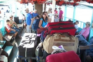 Loaded ferry to Cayo Costa