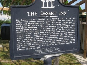 The Desert Inn historic marker