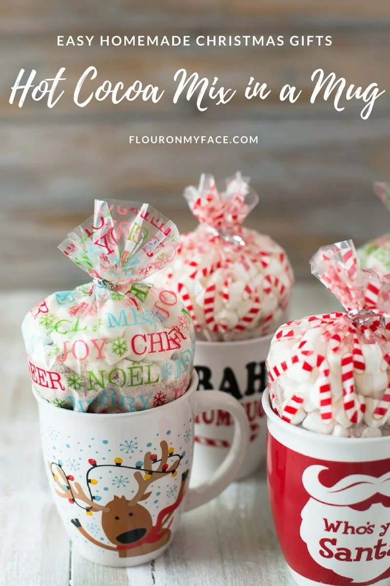 Christmas Homemade Gifts Homemade Christmas Peppermint Hot Cocoa Mix