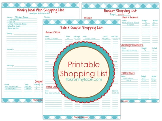 3 Free Printables Weekly Meal Planning-Flour On My Face