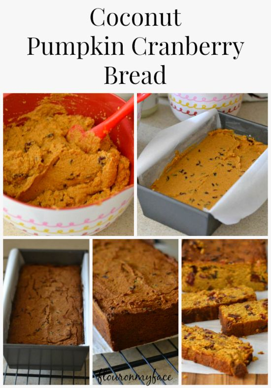 Paleo Cranberry Pumpkin Banana Bread