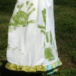 Handprint Dish Towel Tutorial