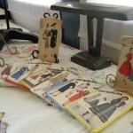 Vintage Sewing Patterns on Display