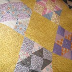 Vintage Quilt Made from Flour Sack Fabrics