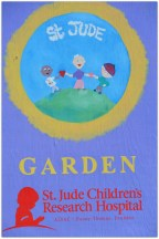sign at St. Jude Garden